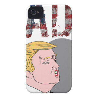 Funny sarcastic sad anti President Donald Trump iPhone 4 Case-Mate Case