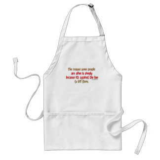Funny Sarcastic Saying on People Standard Apron