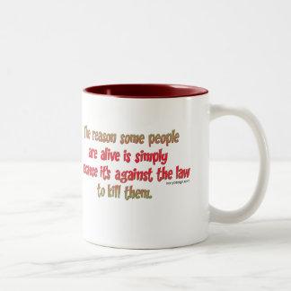Funny Sarcastic Saying on People Two-Tone Mug