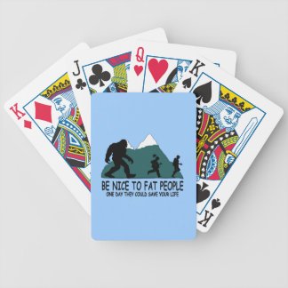 Funny Sasquatch Bicycle Playing Cards