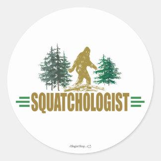 Funny Sasquatch, Bigfoot Round Stickers