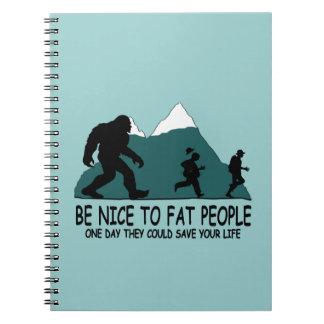 Funny Sasquatch Spiral Note Book