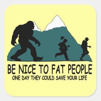 Funny Sasquatch Square Sticker