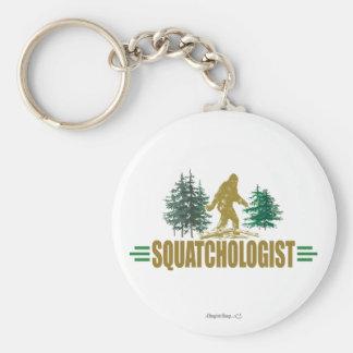 Funny Sasquatching, Sasquatch Hunter's Basic Round Button Key Ring