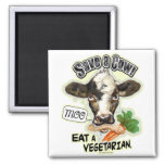 Funny Save a Cow Eat a Vegetarian Gifts Magnets