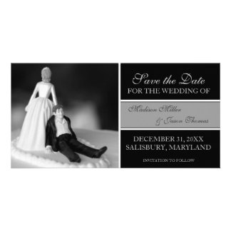 Funny Save the Date Announcements {Black} Personalised Photo Card