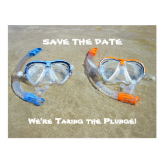 Funny Save the Date Card Beach Wedding Postcard