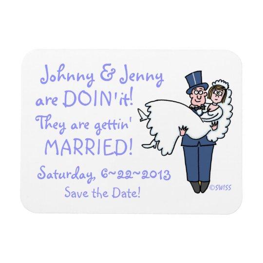 Funny Save-the-Date Wedding Keepsake Magnet