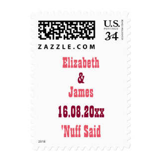 Funny Save the Date Wedding Postcard Postage Stamp
