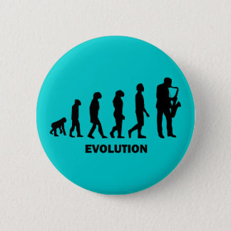 funny saxophone player 6 cm round badge