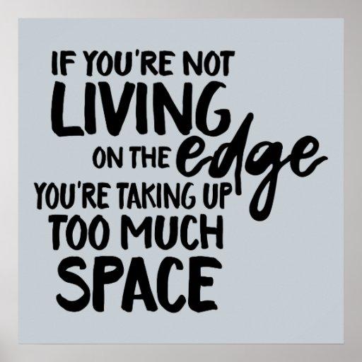 Funny saying living on the edge wordplay art