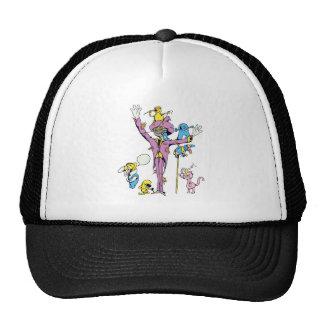 funny scarecrow and friend vector cartoon cap