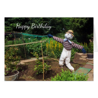 Funny scarecrow card