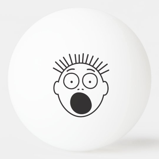 Funny Scared Face Ping Pong Ball