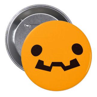 Funny Scary Jack O Lantern Happy Halloween 7.5 Cm Round Badge