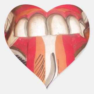 Funny Scary Weird Tongue  Asian Halloween Amazing  Heart Sticker