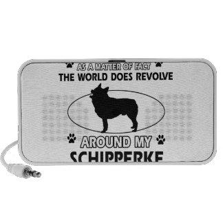 funny SCHIPPERKE designs Portable Speaker