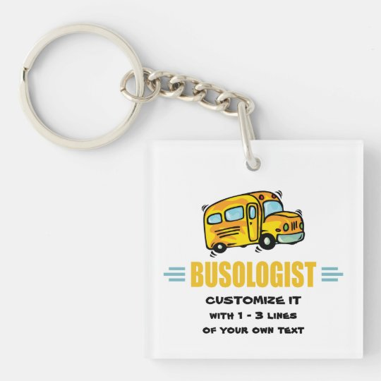 Funny School Bus Key Ring
