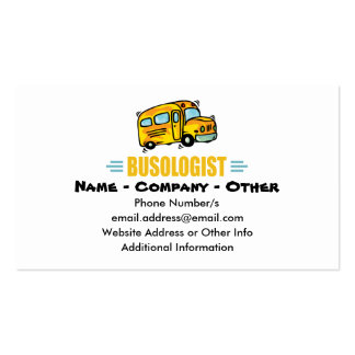Funny School Bus Pack Of Standard Business Cards