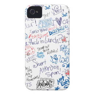 Funny School Doodles and Sayings Case-Mate iPhone 4 Case
