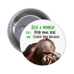 Funny School Student Body Election Campaign Button