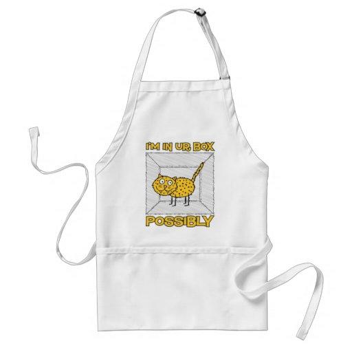 Funny Schrodinger's Cat Lolcat Apron