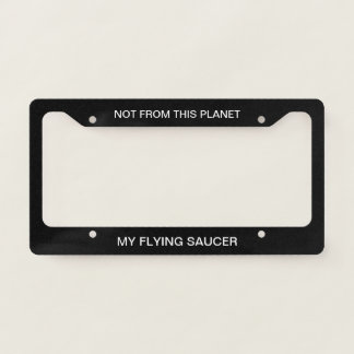 Funny Science Fiction Design Licence Plate Frame