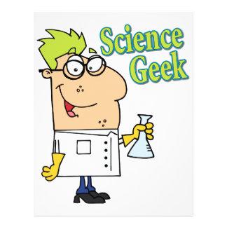 funny science geek cartoon character 21.5 cm x 28 cm flyer