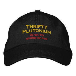 Funny Science Nuclear Plutonium hat atomic Humor Embroidered Baseball Caps