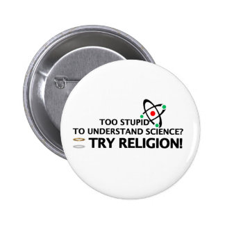 Funny Science VS Religion Pinback Buttons