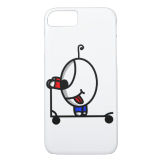 funny scooter dude iPhone 8/7 case