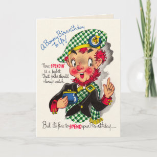 Funny vintage birthday cards zazzle uk funny scottish birthday card m4hsunfo
