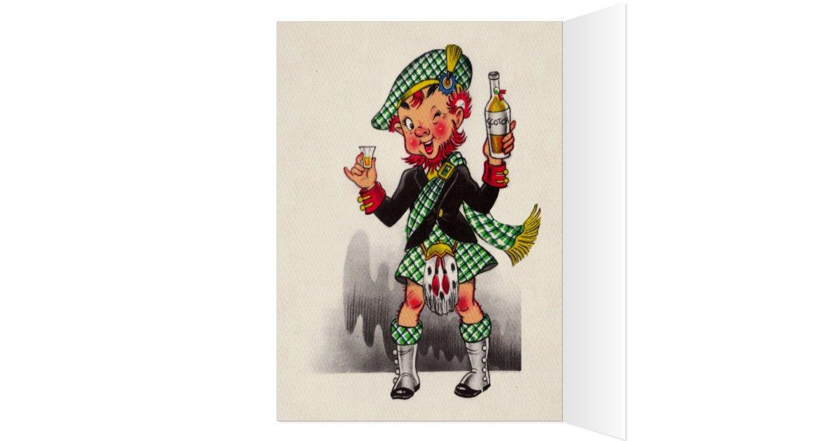 Funny Scottish Birthday Card Zazzle Co Uk