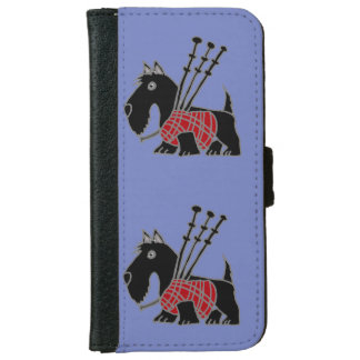 Funny Scotty Dog Playing Bagpipes iPhone 6 Wallet Case