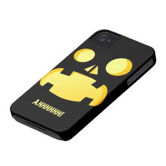 Funny Screaming Jack-o'-lantern iPhone 4 Cover