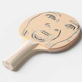 Funny Screaming Woman Face Print Ping Pong Paddle