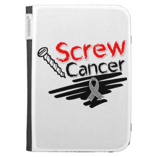 Funny Screw Brain Cancer Kindle 3 Cover