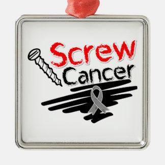 Funny Screw Brain Cancer Christmas Ornaments
