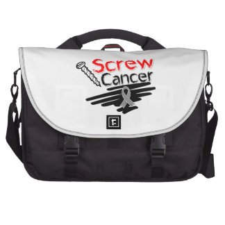Funny Screw Brain Cancer Bags For Laptop