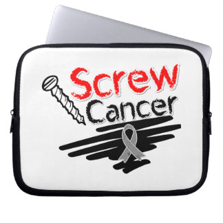 Funny Screw Brain Cancer Laptop Computer Sleeve