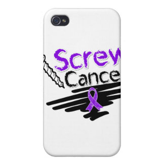 Funny Screw Pancreatic Cancer iPhone 4 Cases