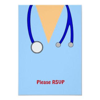 Funny Scrubs Nurses Whimsical Design 9 Cm X 13 Cm Invitation Card