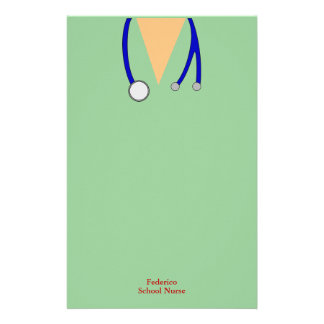 Funny Scrubs Nurses Whimsical Design Stationery