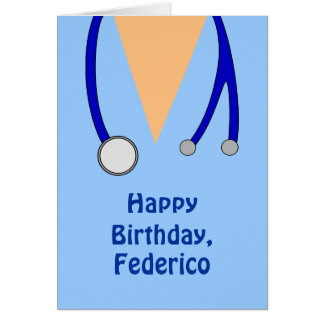 Funny Scrubs Nurses Whimsical Happy Birthday Card