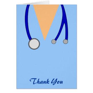 Funny Scrubs Nurses Whimsical Thank You Greeting Card