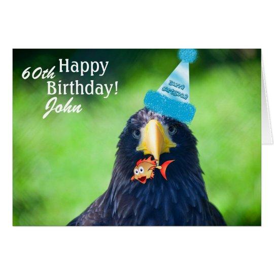 Funny Sea-hawk Bird•Happy Birthday Card