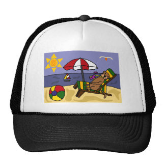 Funny Sea Otter at the Beach Cap