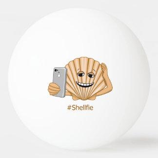 Funny Sea Shell Shellfie Smartphone Selfie Ping Pong Ball