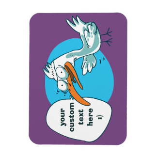 funny seagull speaking to us cartoon magnet