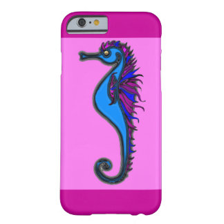 Funny seahorse pink barely there iPhone 6 case